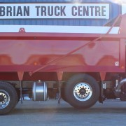 2018 Red Tri-Axle – Side